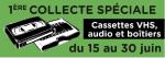 1ère Collecte spéciale AIVE : cassettes VHS et audio